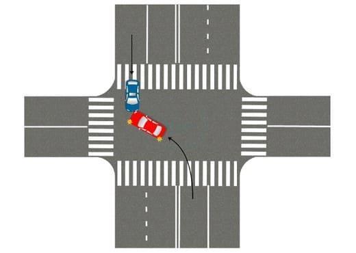 уступить дорогу встречным авто