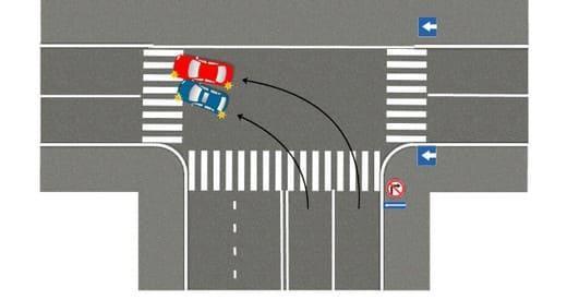 Если всем автомобилям разрешено поворачивать только налево
