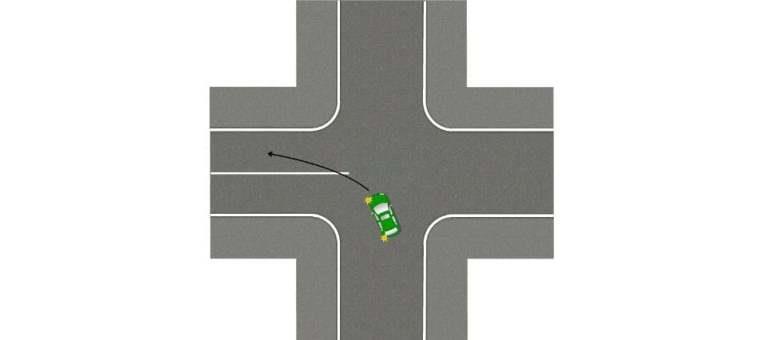 Разметка перекрестка при повороте