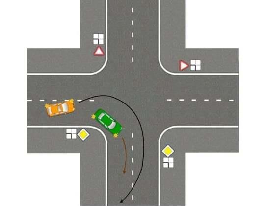 Обгон на перекрестке при повороте