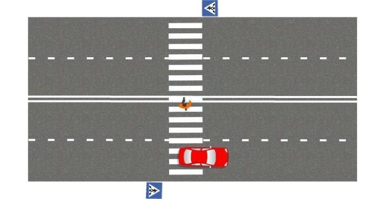 Пересечение перехода до окончания прохода дороги пешеходом